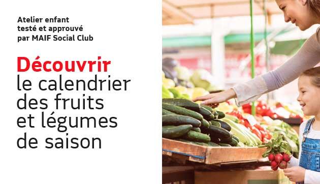 Calendrier des fruits et légumes de saison
