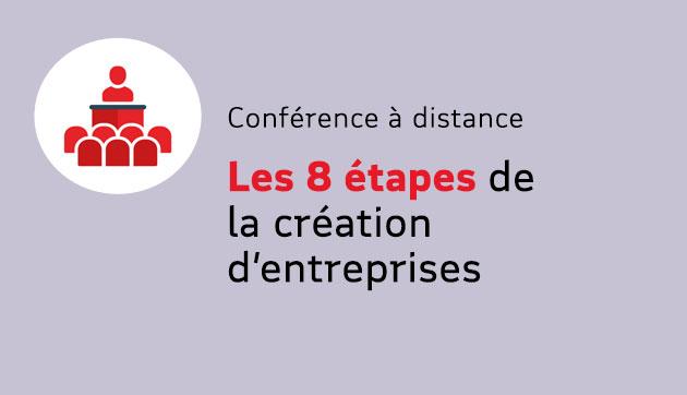Les 8 étapes de la création  d'entreprises – Conférence à distance